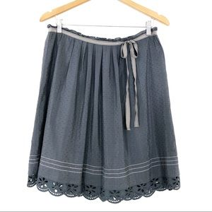 Banana Republic | Grey-Blue Silk Blend Skirt